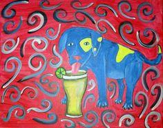 """""""Blue Puppy"""" by J. Petersen"""