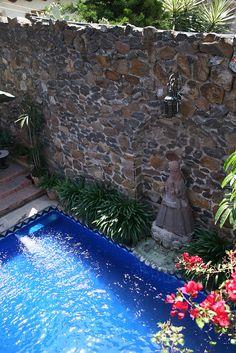 Plunge pool at Casa Schuck boutique hotel in san miguel de allende mexico