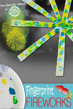 Make this fingerprint firework craft with your kids on New Years Eve!