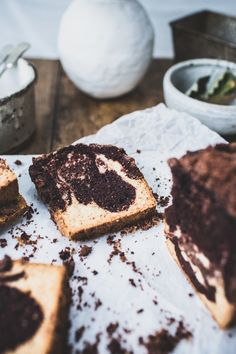 Triple Chocolate Swirl Streusel cake | List of delicious trashed up goodies | Jessica from How Sweet It Is' virtual baby shower!