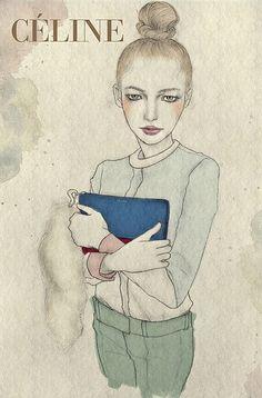Celine Fashion Illustration
