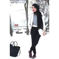 Nafstyle Hijab ❤ liked on Polyvore