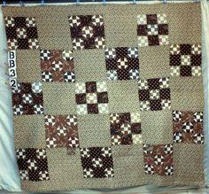Antiqure Shoo Fly nine patch #quilt 1870