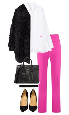 """Untitled #4715"" by theeuropeancloset on Polyvore featuring Andrea Marques, MANGO, MACKINTOSH, Christian Louboutin, Yves Saint Laurent and Bartoli"
