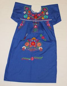 Peasant Embroidered Mexican Dress