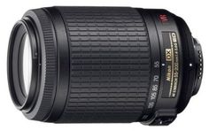 Nikon 35mm f1.8 lens For under $150 you get vibration reduction to help reduce camera shake and a motor that focuses quietly and quickly (most of the time). This isn't a telephoto zoom for professionals, but it's a versatile option that will make most amateur photographers happy.