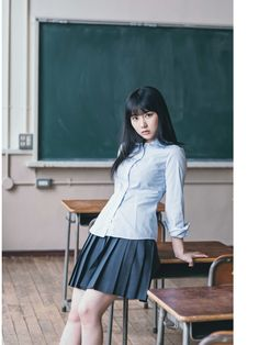 Shared by mikurin Cute Japanese, Japanese Girl, Ikuta Erika, Cute Ponytails, Girls Uniforms, Beautiful Asian Girls, Asian Fashion, Cute Girls, Ballet Skirt