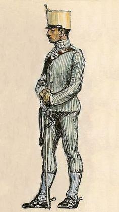 Spain; Cazadores Regiment, Lusitania, Summer service Uniform 1905