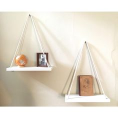 Swing Shelves Hanging Shelves Solid Maple Hanging Planter Wall Planter... (534.280 IDR) ❤ liked on Polyvore featuring black, home & living, home décor, wall décor and wall hangings