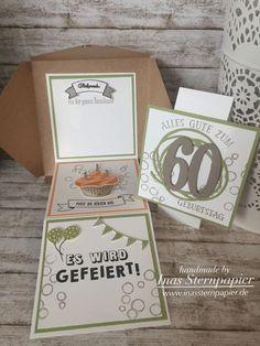 Stampin Up 60. Geburtstag Aufklappkarte