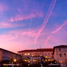 We will never get tired of the sunset at #Emory.