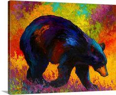Roaming - Black Bear Art Painting for sale. Shop your favorite Marion Rose Roaming - Black Bear Art Painting without breaking your banks. Bear Paintings, Painting Prints, Wall Art Prints, Canvas Prints, Rose Paintings, Wolf Painting, Black Bear Tattoo, Fine Art Amerika, Bear Art