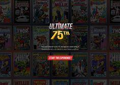 Ultimate 75th #webdesign #inspiration #UI