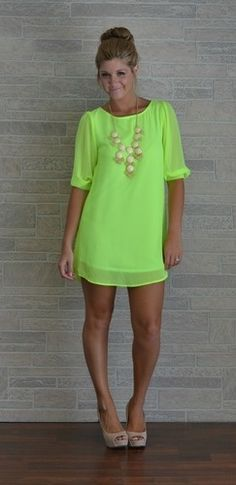 Art love this NEON dressss everything-that-shimmers