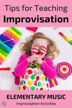 Teaching improvisation in the elementary music classroom should be fun for teachers and students. These ideas make learning to improvise favorite lessons for teachers Student Learning Objectives, Orff Activities, Online Lessons, Elementary Music, Music Classroom, Teaching Music, Reading Skills, Music Education, Literacy
