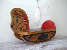 Vintage Childs Rocking Horse