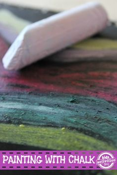 Painting with Chalk and Water - such an simple activity!