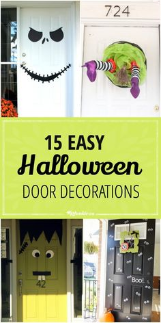 15 Easy Halloween Door Decorations | tip junkie
