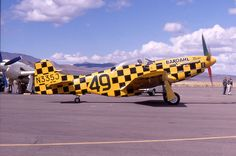 "P-51D N335J 44-74506 ""Bardahl Miss"". 1968 Reno Air Races, Stead, 20Sept1968, copyright Ron Olsen."