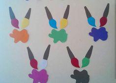 « Preschool and Homeschool Art Classroom Decor, Classroom Design, Preschool Color Crafts, Crafts For Kids, Color Activities, Creative Activities, Sport Craft, Creative Journal, School Decorations