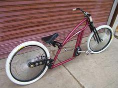 Bobber vintage Custom Beach Cruiser, Beach Cruiser Bikes, Cruiser Bicycle, Cool Bicycles, Cool Bikes, Three Wheel Bicycle, Trike Scooter, E Biker, Lowrider Bicycle