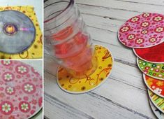 These fun Recycled CD Coasters are a great way to put old CD's to good use. This fun collection of coasters makes a great gift and is so budget friendly. CD crafts like this are also great for group activities and craft nights with your kids. Cd Crafts, Diy And Crafts, Crafts For Kids, Arts And Crafts, Family Crafts, Cd Diy, Coaster Crafts, Diy Coasters, Making Coasters