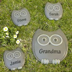 Owl Stepping stones
