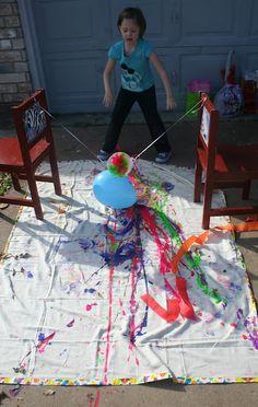 pendulum painting-use funnel