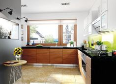 This is Modern Kitchen Cabinet Design Item of Home Plan For Single Story. Beautiful Home Plan everything is closer, more compact and can be very beautiful. Simple Bungalow House Designs, Bungalow Haus Design, Bungalow House Plans, Dream House Plans, Architecture Design, Residential Architecture, Amazing Architecture, Prefabricated Houses, Prefab Homes