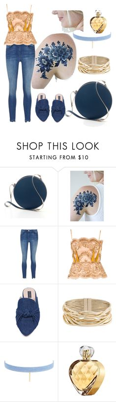 """Gold and blue"" by bogabag on Polyvore featuring Blue Tattoo, 3x1, STELLA McCARTNEY, Eloquii, Rosantica, Jules Smith and Elizabeth Arden"