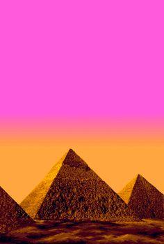 Pixel Pyramids and ombré skys