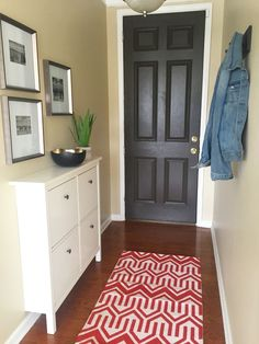 Narrow Entryway Makeover