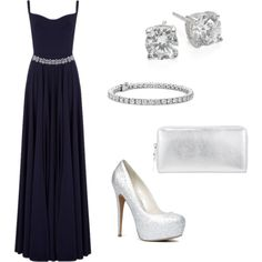A fashion look from June 2015 featuring long summer dresses, sexy shoes and change purse. Browse and shop related looks. Midnight Blue Gown, Spirit, Pairs, Gowns, Shoe Bag, Formal Dresses, Outfit, Wedding, Shopping