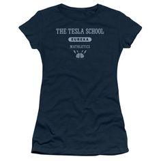 EUREKA TESLA SCHOOL Juniors Sheer Cap Sleeve T-Shirt