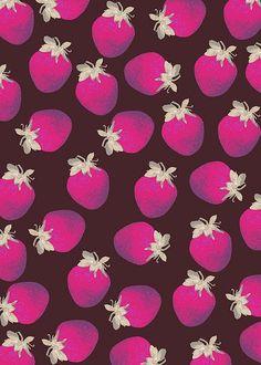 Strawberries and Chocolate Pattern by Georgiana Paraschiv
