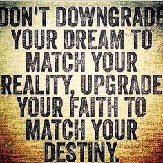 Upgrade your faith..