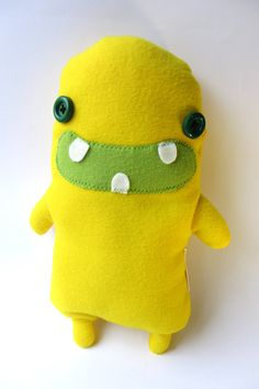 Lemonster - Plush Stuffed Monster, Yellow Pile Monster Plush, Alien Plush, Cute Plush, Pile Stuffed Monster Toy