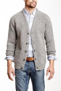 Tweed Look Wool Cardigan