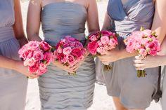 Blush Wedding Dress on the Beach | Best Wedding Blog - Wedding Fashion & Inspiration | Grey Likes Weddings