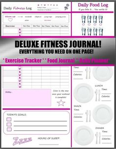 10 best fitness planners images on pinterest fitness journal