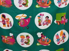 1 Yard of Childrens Fabric from the 70s New Old by TrimsfromEurope, $18.00