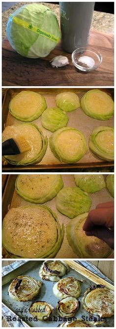My entire family makes fun of me, but I love this so much! Garlic Rubbed Roasted Cabbage Steaks Recipe
