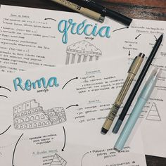 aesthetic notes rome and greece summary totally inspired by p you . Bullet Journal Notes, Bullet Journal School, Class Notes, School Notes, Mental Map, Neat Handwriting, Study Organization, School Study Tips, Study Journal