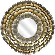 Petals of gold and silver. HomeDecorators.com