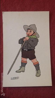 Postales: 2 TARJETAS POSTALES DE 1928 CON DIBUJO DE BOY SCOUTS - Foto 3…