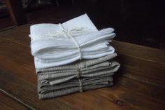linen napkins, 3 colors