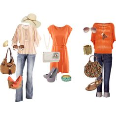Orange you glad Summer is coming, created by kaylyn-corbin on Polyvore