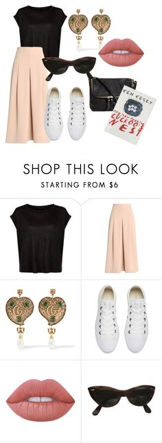 """""""Street style"""" by liebezurkunst on Polyvore featuring moda, TIBI, Gucci, Converse, Lime Crime, Ray-Ban y H&M"""