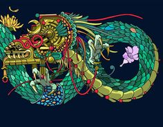"""Quetzalcóatl"" La serpiente emplumada #quetzalcoatl #seherone #deathsquadmx #patomachete • Likes: 1084 • Comments: 19 • Posted: Thu, 16 Jun 2016 07:26:52 +0200"