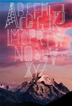 Estratosfera / type font.